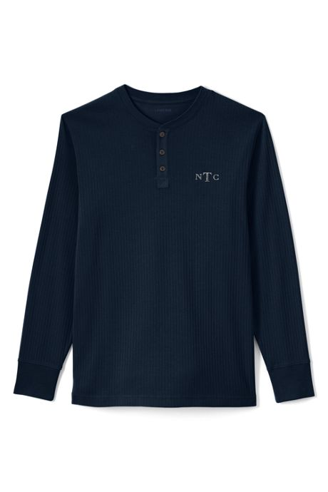Men's Knit Rib Sleep Henley