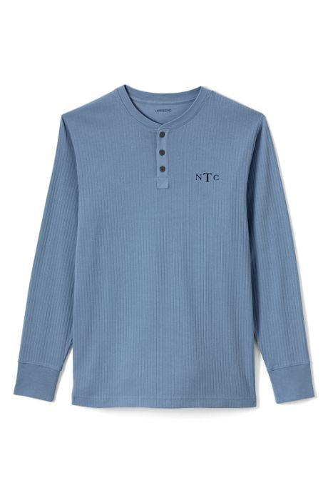 Men's Tall Knit Rib Sleep Henley