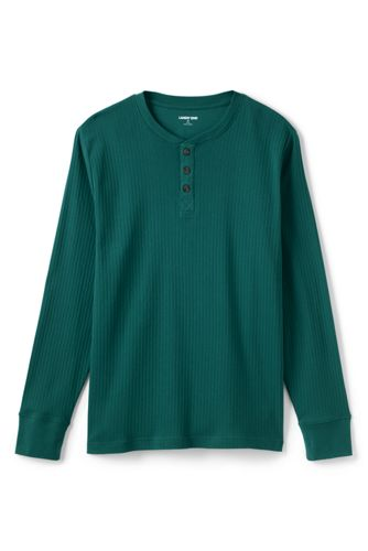 Le T-Shirt de Nuit Henley Côtelé Homme