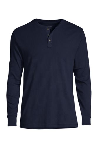 Men's Regular Henley Pyjama T-shirt