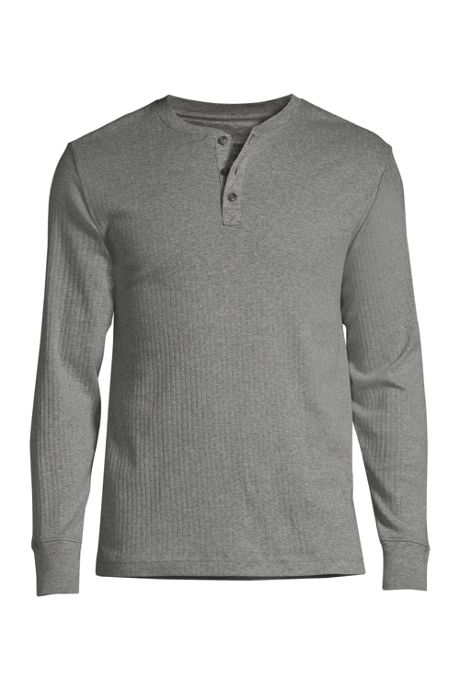 Men's Tall Knit Rib Pajama Henley
