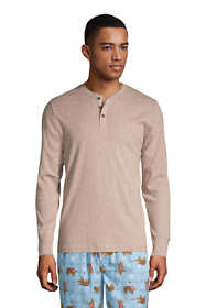 Men's Knit Rib Pajama Henley