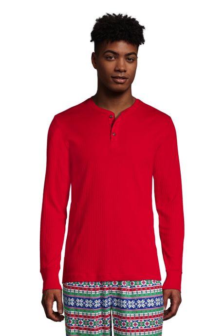 Men's Tall Knit Rib Pajama Henley