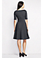 Women's Regular Dot Print Ponte Jersey Boatneck  Dress