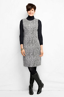 Women's Jacquard Ponte Jersey Sleeveless Shift Dress