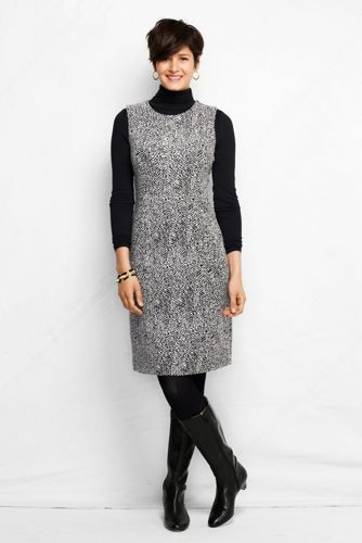 Women's Regular Jacquard Ponte Jersey Sleeveless Shift Dress
