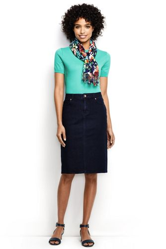La Jupe Denim Stretch 5 Poches, Femme Stature Standard