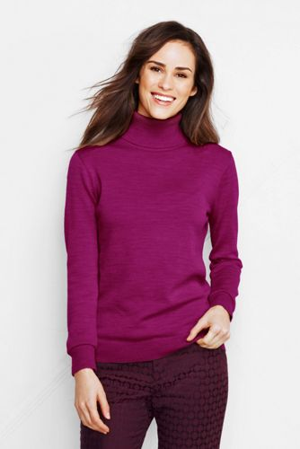 Offerta: Lands' End Women's Petite Merino Roll Neck Jumper