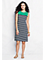 Women's Regular Placed Stripe Shift Dress