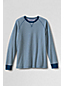 Men's Regular Striped Waffle-knit Crew Neck Top