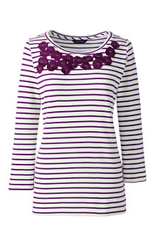 Women's Striped Embellished Top