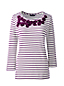 Women's Regular Striped Embellished Top