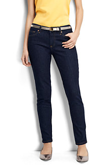 Women's Low Rise Dark Indigo Wash Slim Leg Jeans