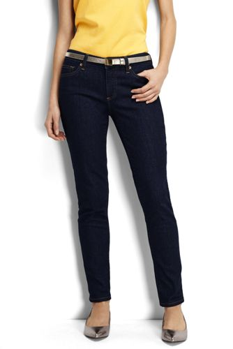 Dark Rinse Denim-Jeans im Slim Fit für Damen