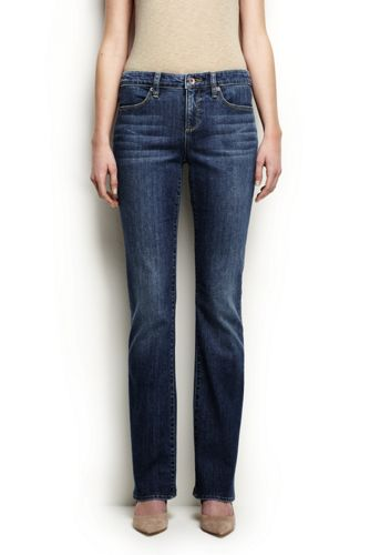 Womens Medium Indigo Wash Low Rise Slim Leg Jeans - 10 34 - BLUE Lands End Clearance Sale Online QP2vecOQ