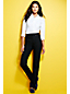 Women's Regular High Rise Straight Leg Black Jeans