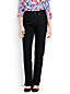 Taillenhohe Straight Jeans in Schwarz