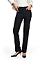 Women's Regular High Rise Straight Leg Black Jeans