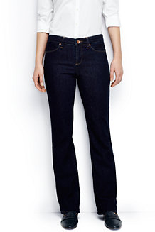 Women's Dark Indigo Mid Rise  Boot cut Jeans