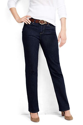 Women's Mid Rise Boot Cut Jeans - Dark Indigo Wash