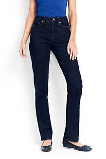Women's Dark Indigo High Rise Straight Leg Jeans
