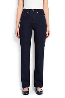 Women's Dark Indigo High Rise Straight Leg Jeans