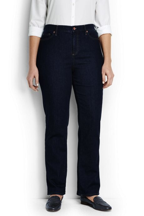 Women's Plus Size High Rise Straight Leg Jeans