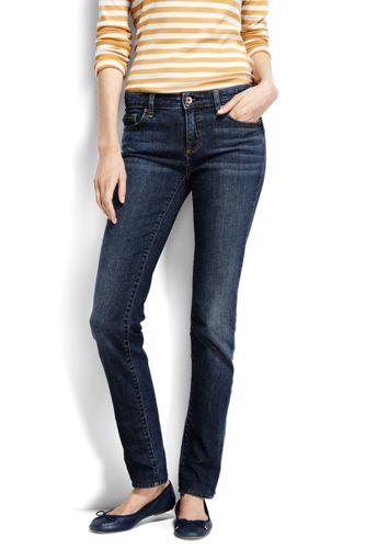 True-Straight Jeans in Indigo für Damen   Lands  End 3b77b09598