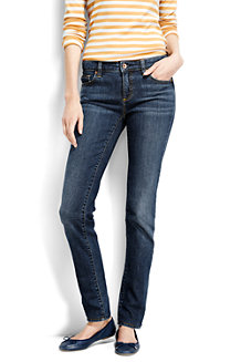 Women's Medium Indigo Wash Low Rise Slim Leg Jeans