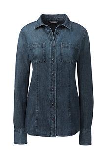 Women's Long Denim Shirt