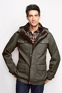 Men's 3-in-1 Parka with Sherpa Gilet