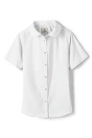 School Uniform Girls Short Sleeve Peter Pan Collar Shirt