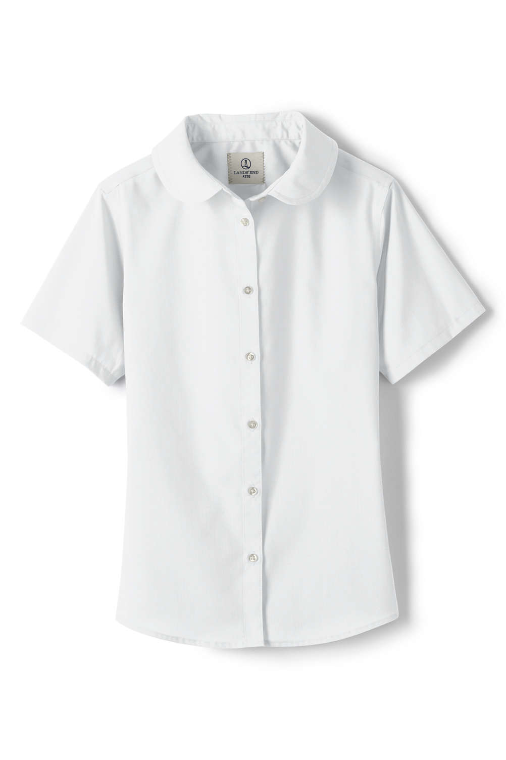 29eed16885c38 School Uniform Short Sleeve Peter Pan Collar Shirt from Lands  End