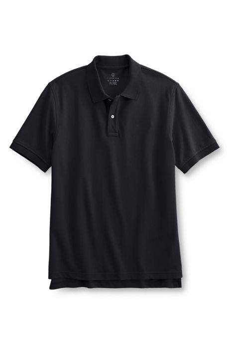 Men's Short Sleeve Tailored Banded Mesh Polo Shirt