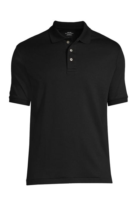Men's Custom Logo Banded Short Sleeve Tailored Fit Pima Cotton Polo Shirt