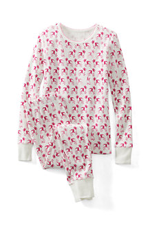 Girls' Print Snug-fit Cotton Pyjamas