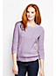 Women's Regular Lofty Blend Three-quarter Sleeve Marl Cable Pullover