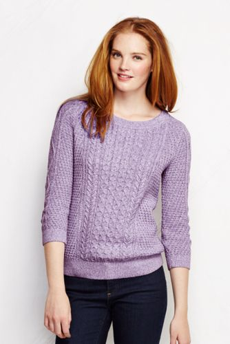 Le Pull Marnais Soyeux en Maille Manches 3/4 Femme, Taille Standard