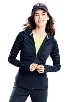 Women's Hooded Ruched Workout Jacket