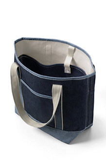Denim Medium Open Top Tote Bag