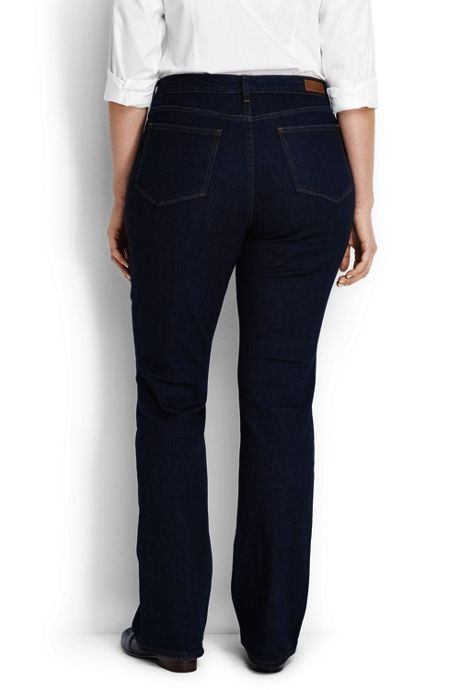 Women's Plus Size Mid Rise Boot Cut Jeans