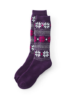 Women's Patterned Winter Boot Socks