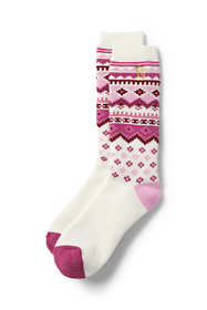 Women's Merino Wool Pattern Winter Boot Socks