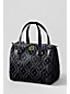 Print Coated Canvas Bowler Handbag