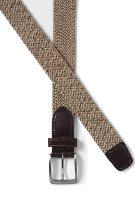 Men's Big Elastic Braid Belt