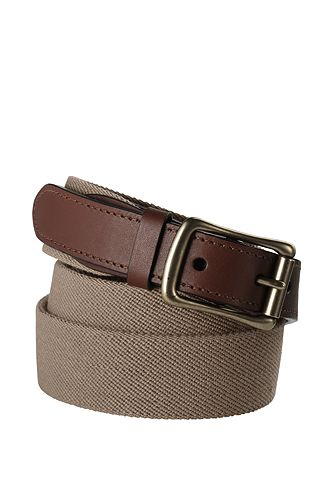 Lands' End Elastic Surcingle Belt 446474: Khaki