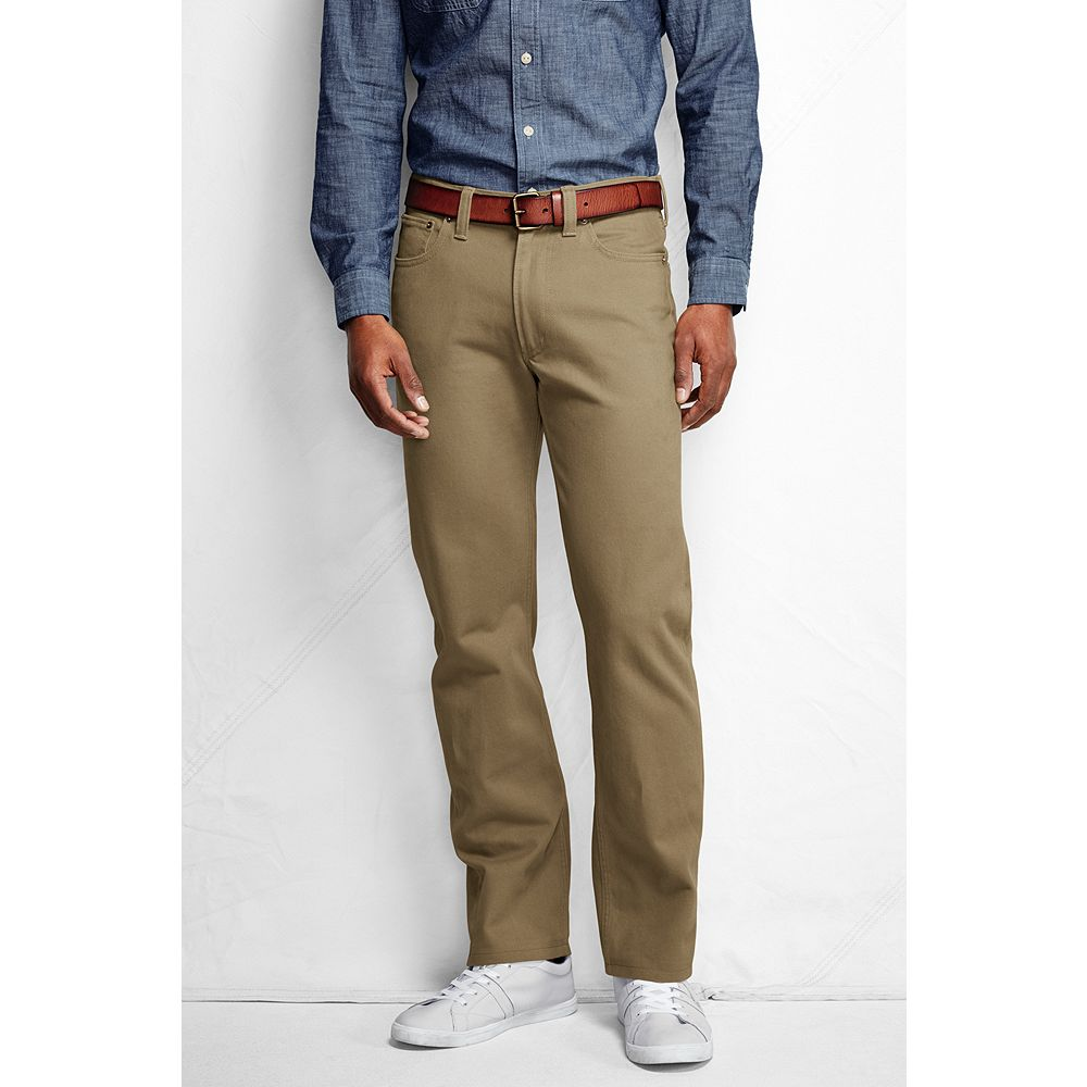 Lands' End Men's Straight Fit Colored Jeans at Sears.com