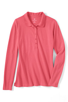 Women's Slim Fit Long Sleeve Piqué Polo