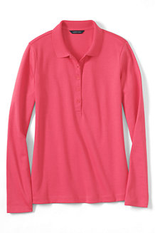 Women's Slim Fit Long Sleeve Pima Polo