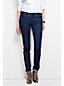Women's Regular Low Rise Indigo Medallion Denim Slim Leg Jeans